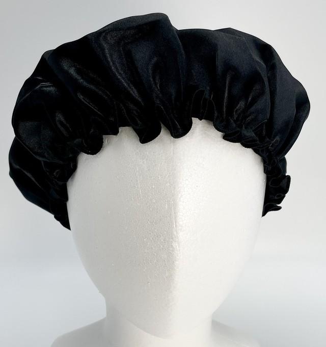 ymda 036kn05 ナイトキャップ ブラック ヘアケア 美髪 つや髪 保持 サテン