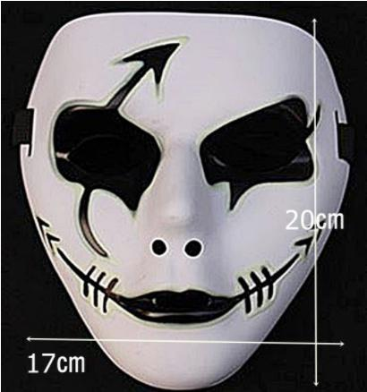 nvaz 039 仮面 光る マスク お面 余興 ダンス コスチューム用小物 (B) フィンガーライト付き