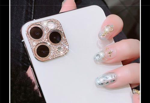 zaqa 478kn05 貼るだけ。高級感溢れる輝きに!iPhone12 ピンクゴールド カメラ レンズ デコ カバー お洒落に保護!
