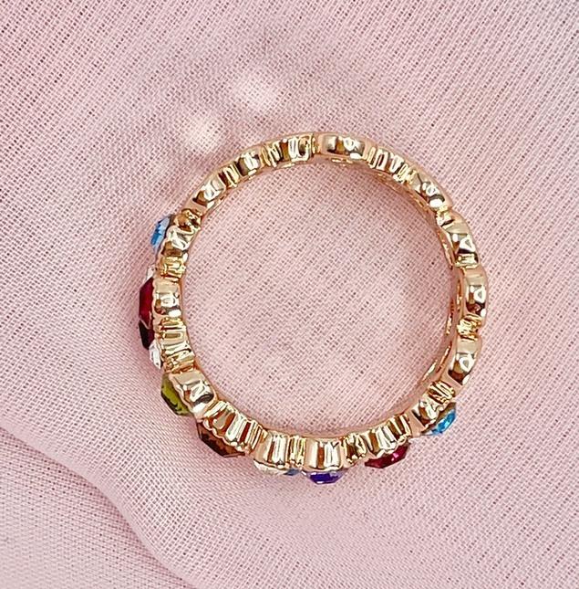 ymda 050kn05 カラーストーンリング 18mm リングサイズ 16号 指輪 ローズゴールド カラフル リング マルチカラー