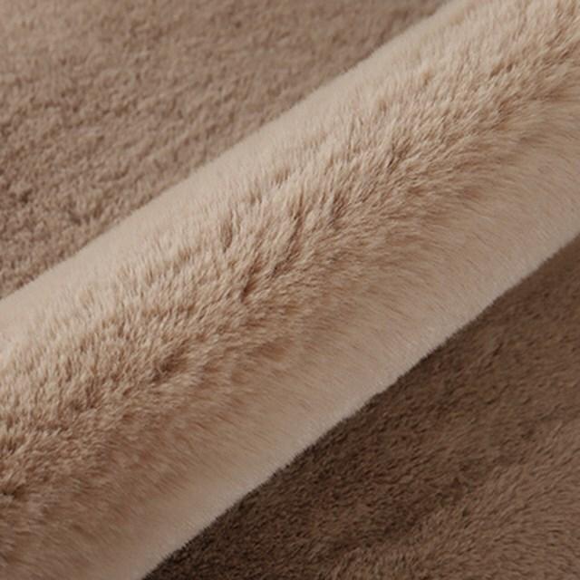 rkab 391tk25 [ベージュ] クマ ラグ マット フェイクファー ふわふわ ベアー カーペット 45x60cm