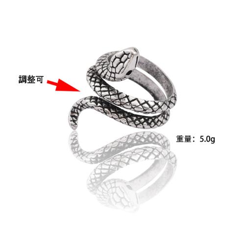 ngab 801kn05 シルバー レディース 蛇 指輪 スパイラル へび スネーク レトロ ヴィンテージ風 アンティーク  かわいい ヘビ リング