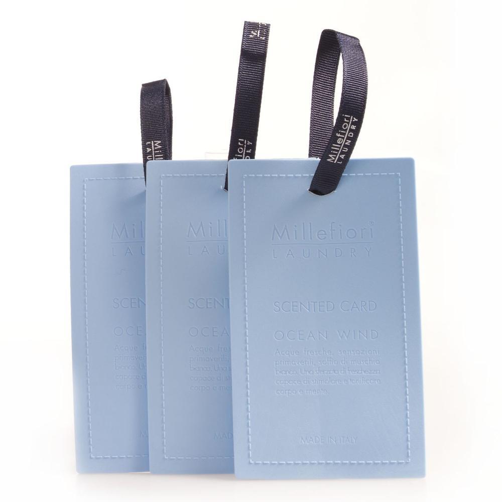 [メール便可] センテッドカード 3枚入り オーシャンウィンド LAUNDRY ミッレフィオーリ ギフト アロマ 衣類 ファブリック 公式通販サイト