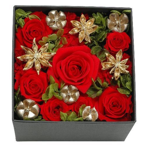 プリザーブドフラワー レッド クリスマス(M) プレゼント 記念日 公式通販サイト