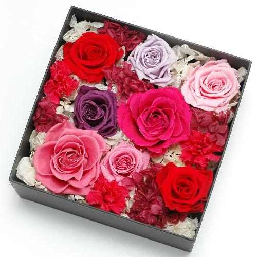 プリザーブドフラワー ピンク ボックス(L) プレゼント 記念日 公式通販サイト