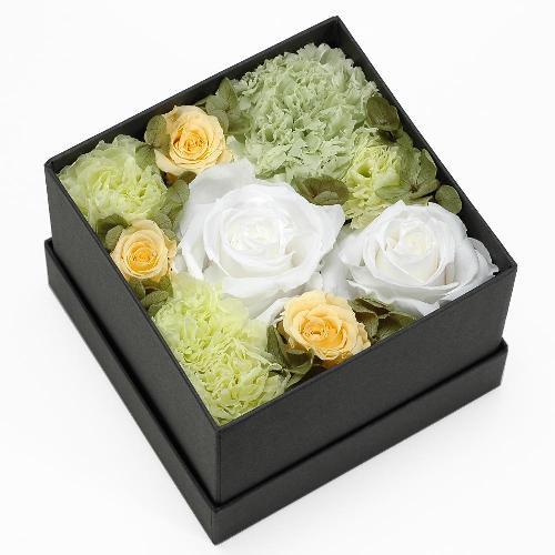 プリザーブドフラワー グリーン ボックス(M) プレゼント 記念日 公式通販サイト