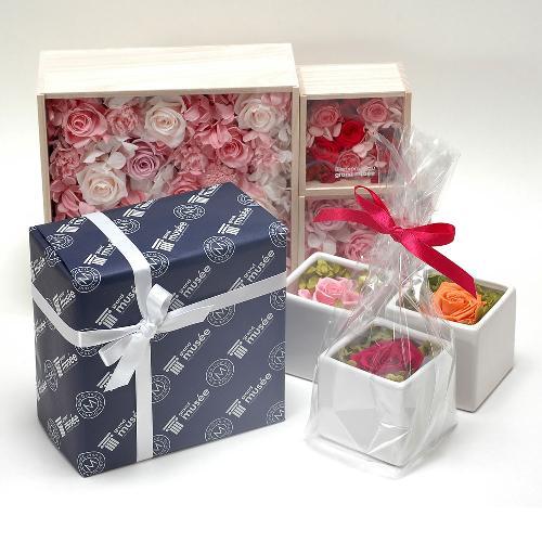 プリザーブドフラワー ピンク ボックス(S) プレゼント 記念日 公式通販サイト
