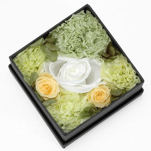 プリザーブドフラワー グリーン ボックス(S) プレゼント 記念日 公式通販サイト