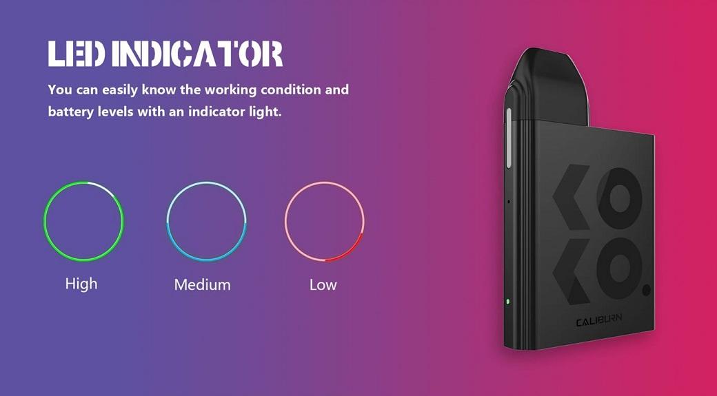 【選べる氷結リキッド15ml 2本付き!!】UWELL Caliburn KOKO Portable System Kit 520mAh 2ml【ゆうパケット送料無料】カリバーン ココ スターターキット mod [M-8]