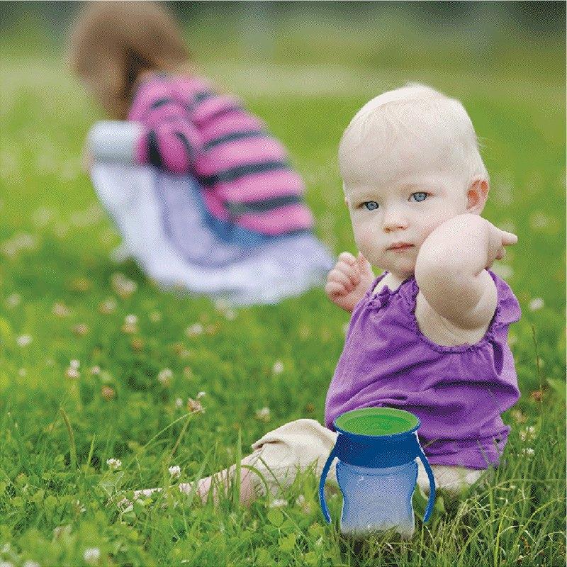 【送料無料】 New!Wowcup Babyトライタン ワオカップベビー【ブルー】 フタをしたまま飲める 不思議なカップ!ワオカップ フタ付き カップ