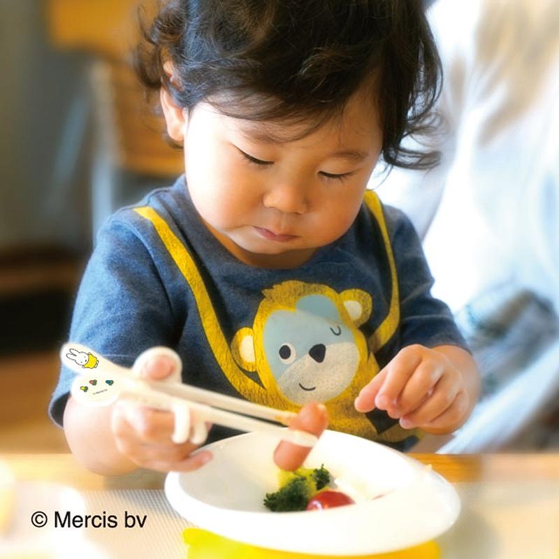 ★送料無料★【右手用】 練習用箸 エジソンのお箸 miniサイズ ミッフィーmiffy トレーニング箸 ベビー食器 カトラリー