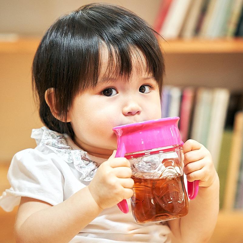 【送料無料】 2021リニューアル!Wowcup Babyトライタン ワオカップベビー【ピンク】 フタをしたまま飲める 不思議なカップ!ワオカップ フタ付き カップ