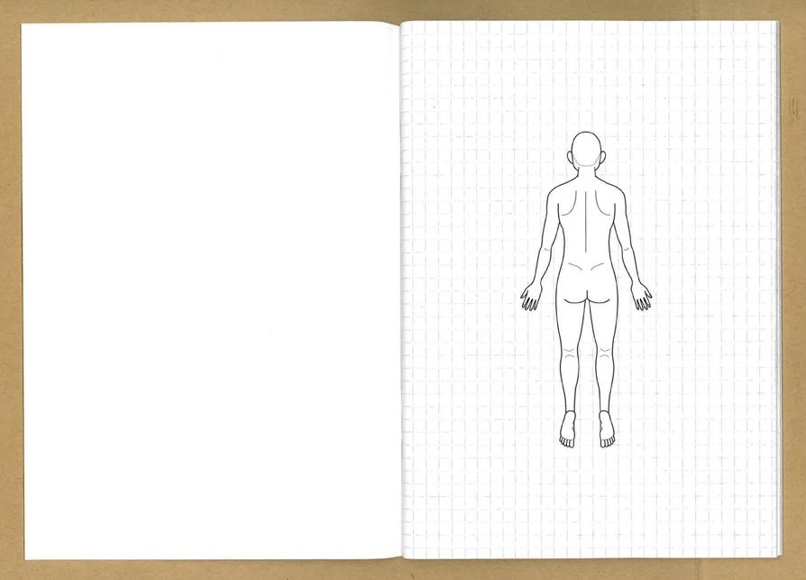 人体図イラストノート