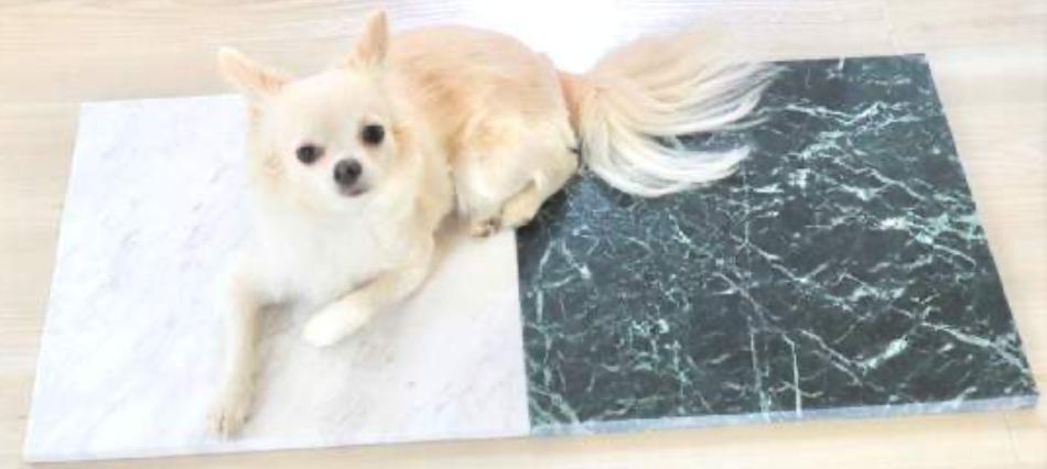 ひんやりマット大理石 シベックホワイト 400×400×13