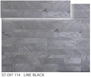 ストーンベニアDIY ST-DIY 114      LINE BLACK