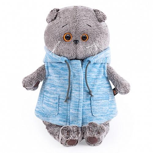 Basik ブルーのサマージャケットハンドメイドの猫ちゃんです ギフト♪プレゼントに♪