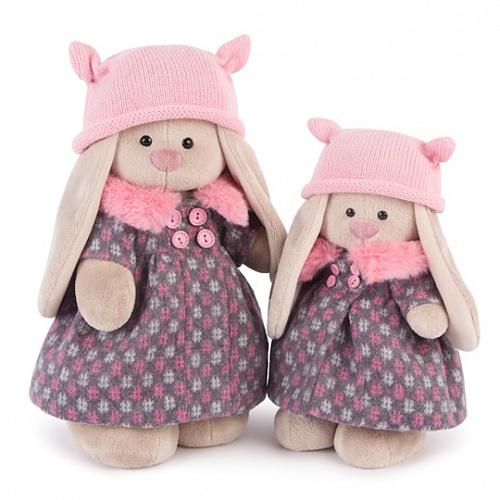 うさぎのMI ピンクのファー付きコート