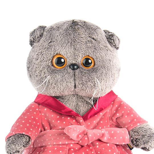 Basik ピンクのバスローブ 可愛いねこちゃんです お祝いやプレゼントに♪