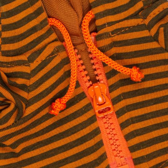 【公式限定】着せ替えお洋服 パンプキンカラーのシマシマパーカー