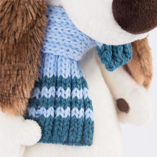 バルトロメイ ブルーのシマシマニット帽&マフラー