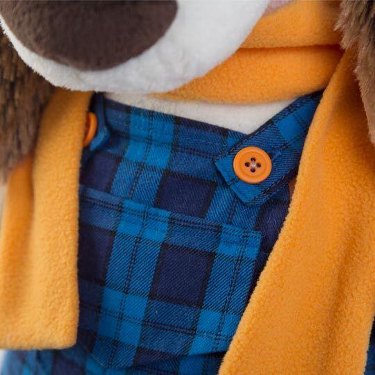 バルトロメイ オレンジマフラー&青のチェック柄コンビニゾン