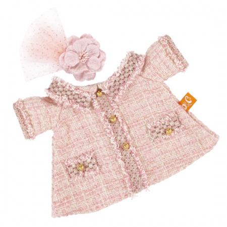 【公式限定】着せ替え Li-li ピンクのチェック柄スーツのお洋服