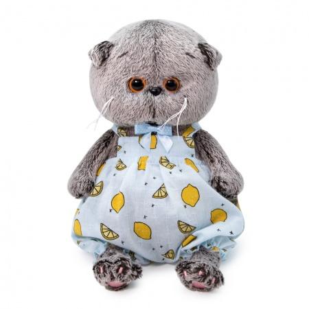 Basik Baby レモン柄のロンパース ハンドメイドの猫ちゃんです ギフト♪プレゼントに♪