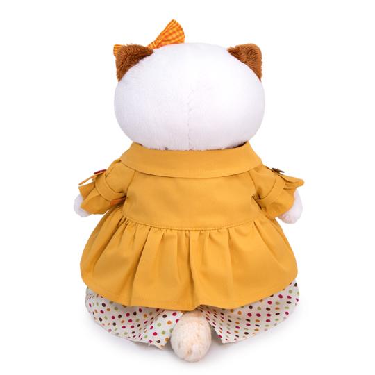 Li-li オレンジのレインコート 可愛い猫のぬいぐるみ!プレゼントやお祝いに♪