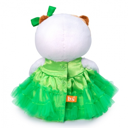 Li-li Baby グリーンのアップルドレス 可愛いねこちゃんです お祝い プレゼントに♪
