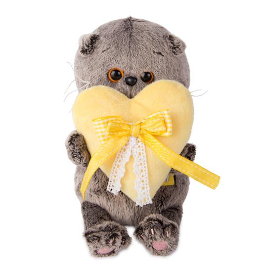 Basik Baby with 黄色いハート ハンドメイドの猫ちゃんです ギフト♪プレゼントに♪