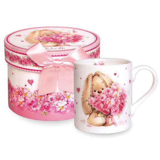 """マグカップ うさぎのMI """"バラの花束"""""""