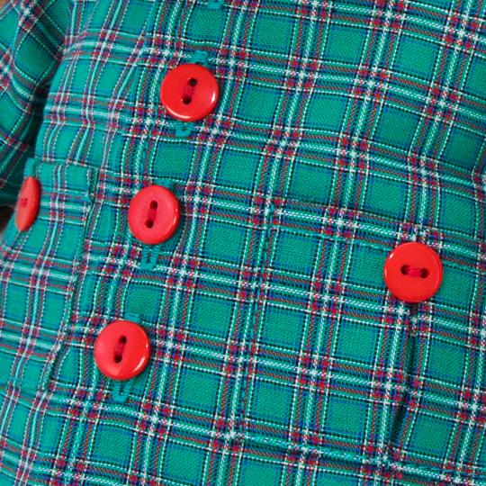 バルトロメイ グリーンのレッドのチェック柄シャツ