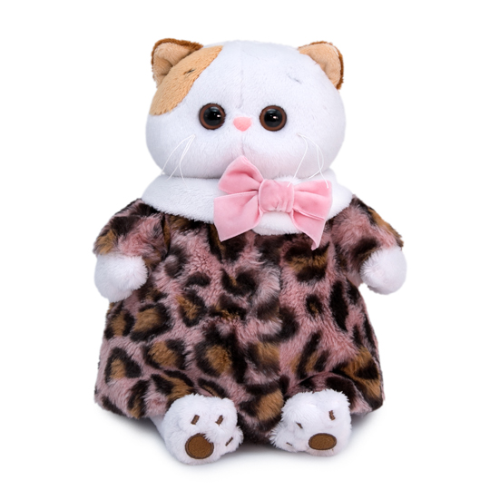 【公式限定】着せ替えお洋服 Li-li  豹柄シューバ  可愛い猫ちゃんのぬいぐるみです♪