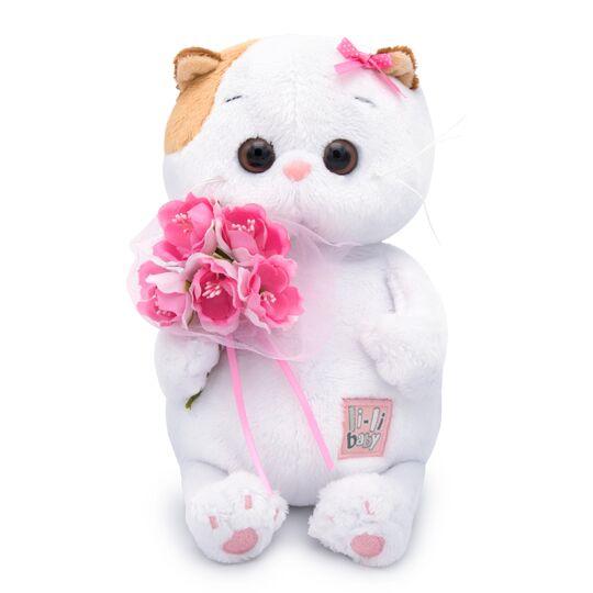 Li-li Baby お花のブーケ 可愛いねこちゃんです お祝い プレゼントに♪