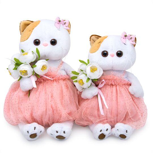 Li-li  with 純白の花束 可愛いねこちゃんです お祝い プレゼントに♪