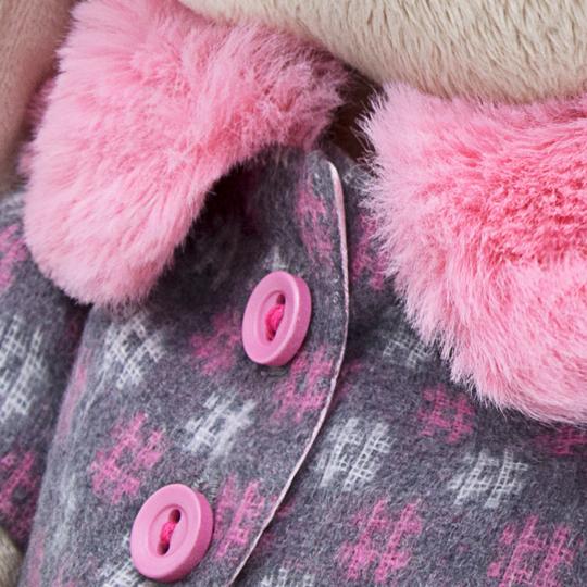 うさぎのMI シャープ柄のもふもふコート