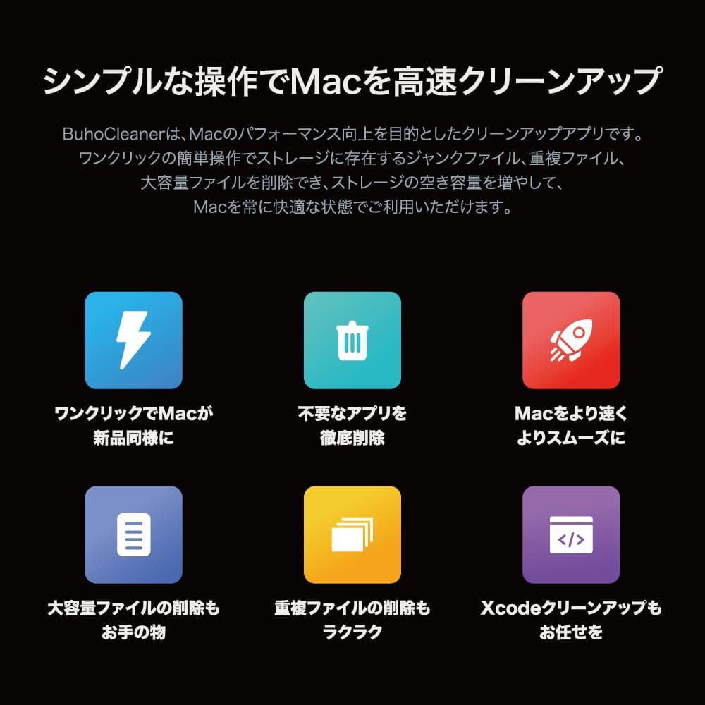 BuhoCleaner ファミリー 3台のMac用ライセンス