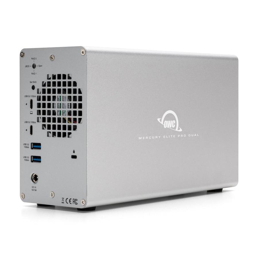 【国内正規品】 OWC Mercury Elite Pro Dual with 3-Port Hub (OWC マーキュリー エリート プロ デュアル with 3ポート ハブ) デュアルドライブベイ / USB3ポートハブ / ハードウェアRAID (HDD 8TB)