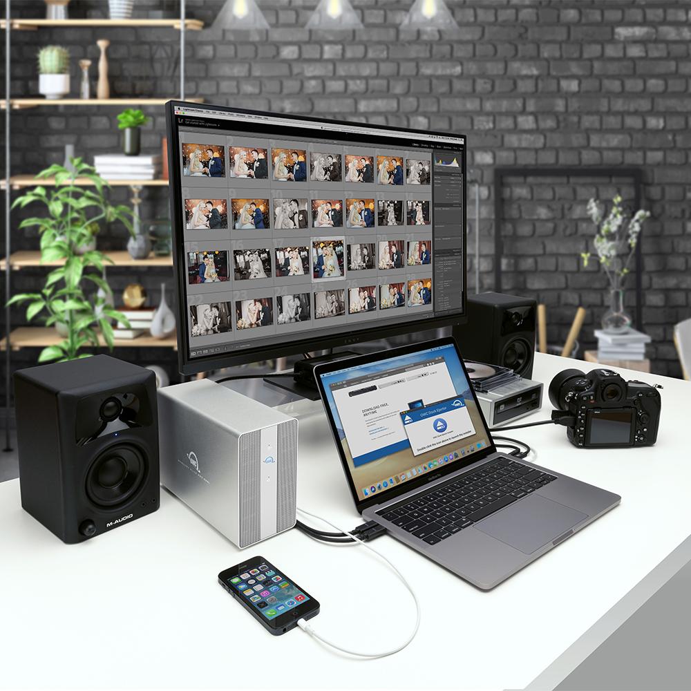 【国内正規品】 OWC Mercury Elite Pro Dual with 3-Port Hub (OWC マーキュリー エリート プロ デュアル with 3ポート ハブ) デュアルドライブベイ / USB3ポートハブ / ハードウェアRAID (SSD 2TB)