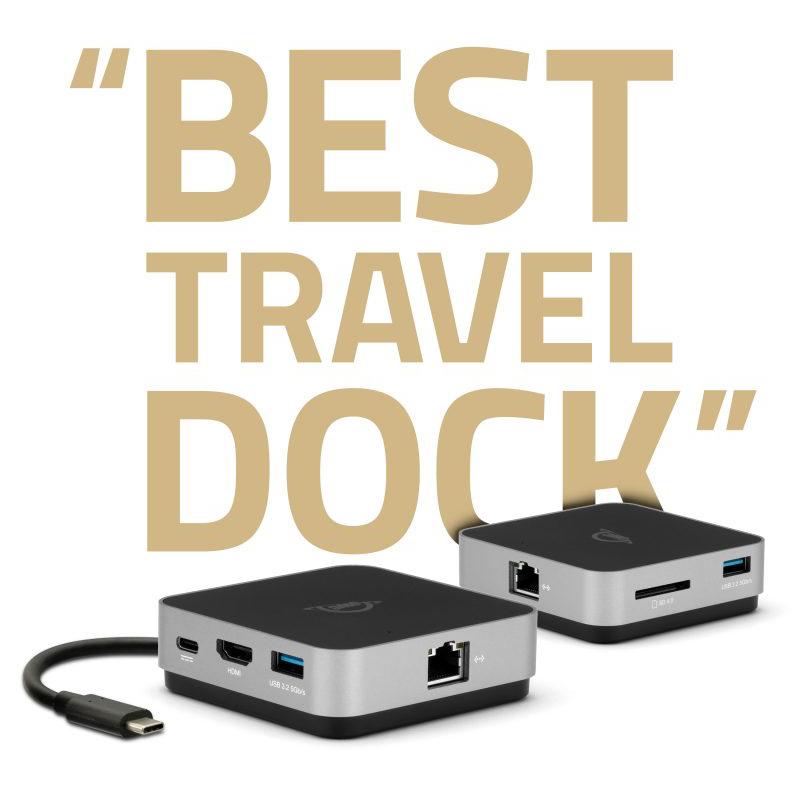 【国内正規品】 OWC USB-C TRAVEL DOCK E (OWC USB-C トラベル ドック E)USB 3 Type-A ×2 / HDMI 2.0 / SDカードリーダー / ギガビットイーサネット / USB-C(電源パススルー) / 6ポート拡張 / 4K / 100W