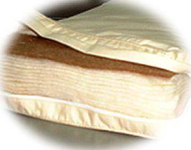 多層式健康パッド キャメル入り15層式 /ダブルサイズロング