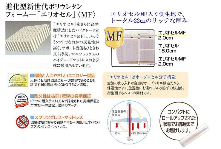 マニフレックスマットレス「フラッグFX」/セミダブル