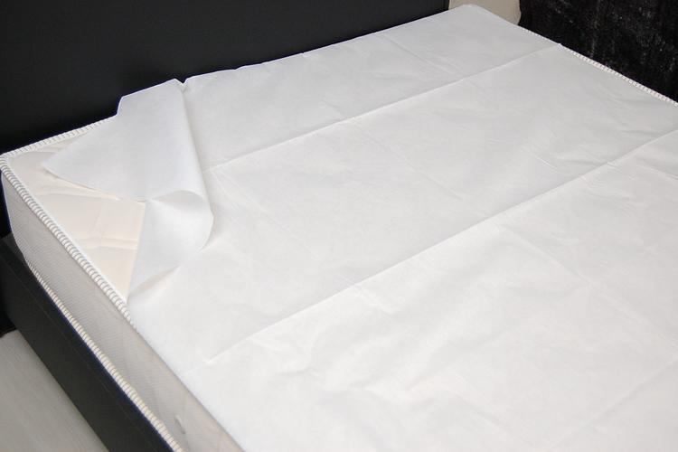 使い捨て防水ふとんカバー ディスポ敷きふとんカバー(ホワイト) ×10枚入