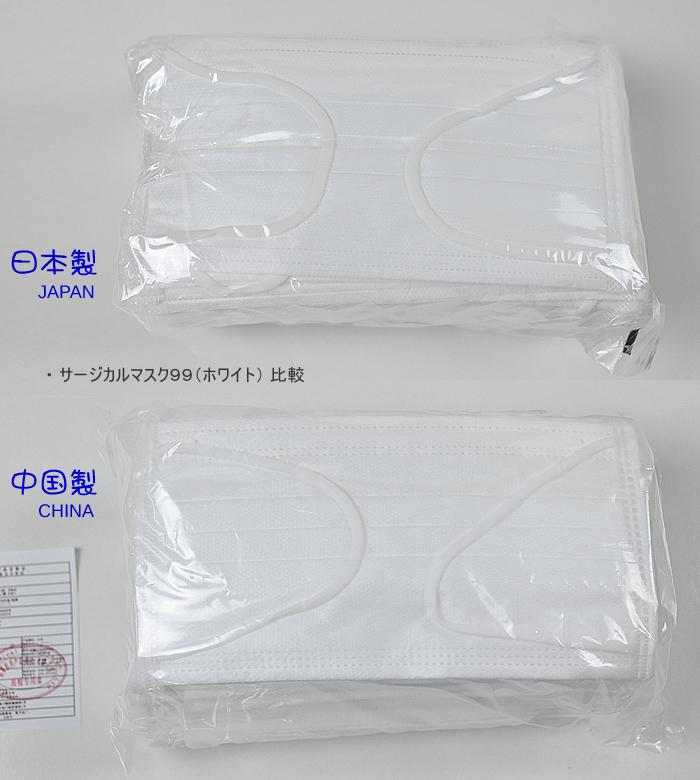 日本製サージカルマスク99(ホワイト) 50枚入 医療用不織布マスク BFE99/VFE99/PFE99