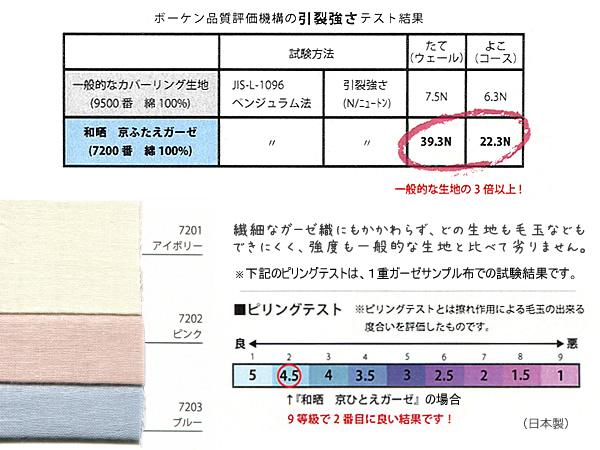 e-ふとん屋さん☆和晒二重ガーゼ 京ふたえガーゼ 掛カバー /シングルSL