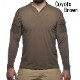 VelocitySystems ベロシティシステムズ BOSS Rugby shirt Long 吸汗、速乾 ミリタリー長袖シャツ