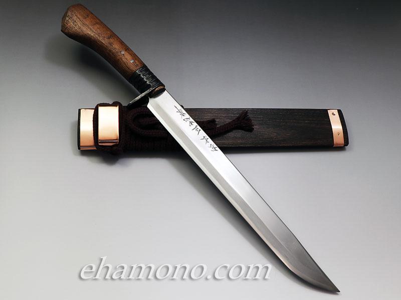 土佐鍛冶 松本正忠作 青鋼細身剣鉈 270