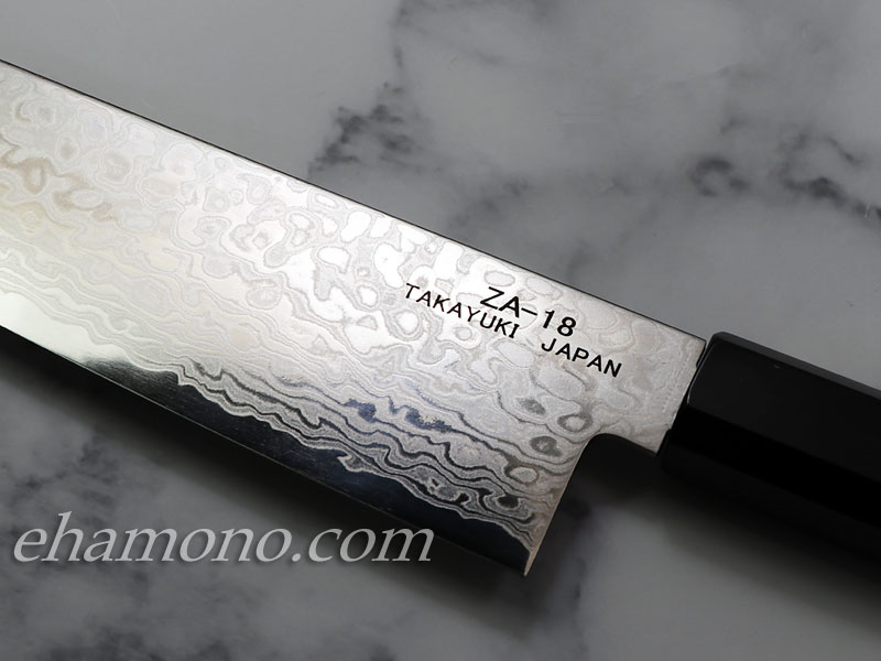 ZA18ダマスカス コバルト鋼【銀河】 和牛刀210