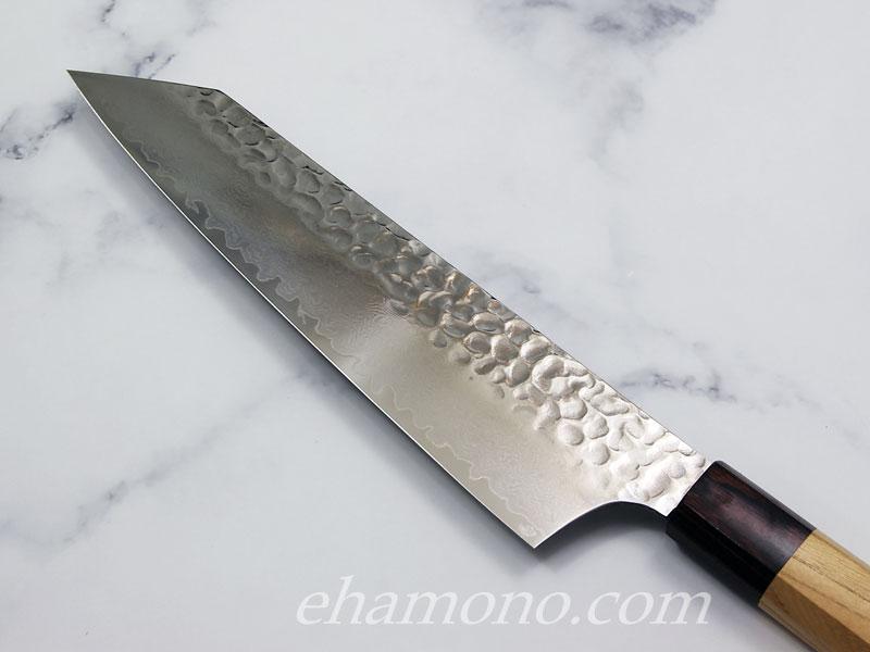 堺孝行 V金10号ダマスカス33層鎚目 和式剣型牛刀(切付牛刀)190