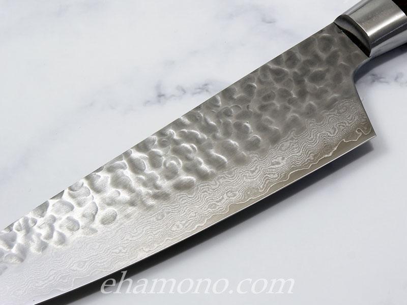 V金10号 ダマスカス33層鎚目剣型三徳160・冷凍包丁 母の日セット